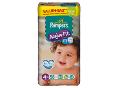 Pampers active fit 7-18kg value + T4 maxi x58