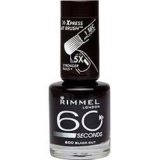 Vernis a ongles 60 Seconds RIMMEL, n°800 Black Out