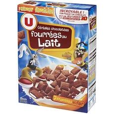 Cereales fourrees chocolat lait U, 600g