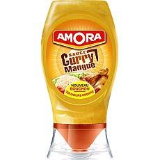 Amora, Sauce curry mangue , le flacon de 256 gr