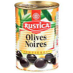 Olives Noirs Rustica Entiere 225g