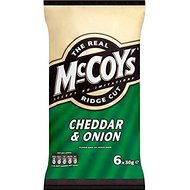 McCoy's Ridge Cut Crisps - Cheddar & Onion (6x30g)