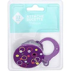 Attache-sucette violet Tex Baby