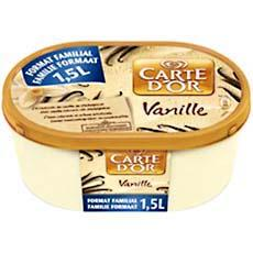 Creme glacee vanille CARTE D'OR, 1,5l
