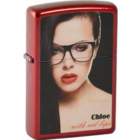 Zippo briquet 2.003.366 rouge lips chloe, candy apple (rouge, mM, collection 2013, édition limitée 001/500/500...