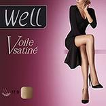 Collant jambes de rêve voile éclat WELL, blush, taille 3