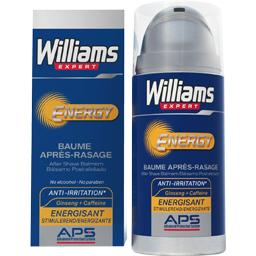 Williams, Baume apres-rasage Energy anti irritation, energisant, le flacon de 100 ml