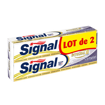 Dentifrice Signal Integral 8 Complet 2 x 75ml