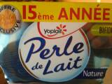Yaourts Perle de lait Yoplait Nature 8x125g