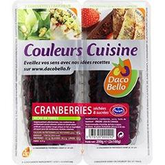 Cranberries sechees & sucrees - Couleurs Cuisine