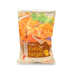 Auchan frites extra large 1kg