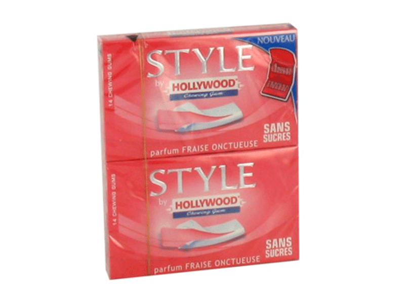 Chewing-gum sans sucre a la fraise Style By HOLLYWOOD