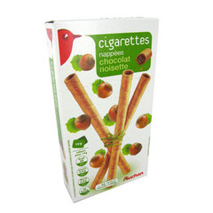 Auchan Biscuits roules nappes chocolat noisette 100g