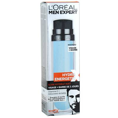 Men Expert hydra energetic soin visage barbe de 3jours 50ml