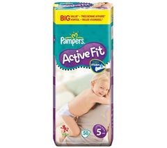 Pampers - 81261361 - Active Fit Couches - Taille 5 Junior (11-25 Kg) - Format economique X 50 Couches