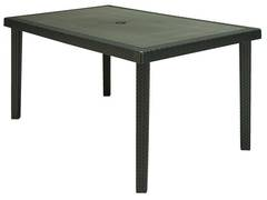 Table bohème polypropylène coloris gris anthracite 150 x 90 cm