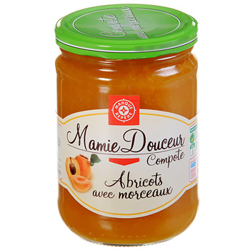 Compote abricots Mamie Douceur 600g