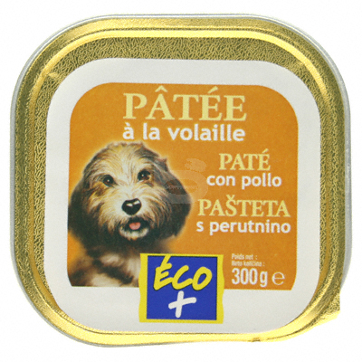 Patee pour chiens Eco+ Volaille 300g