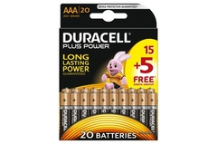 Piles Duracell Plus Power AAA 15 + 5