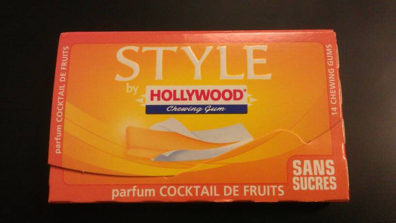 Chewing-gum hollywood style fraise 2x54g - Tous les ...