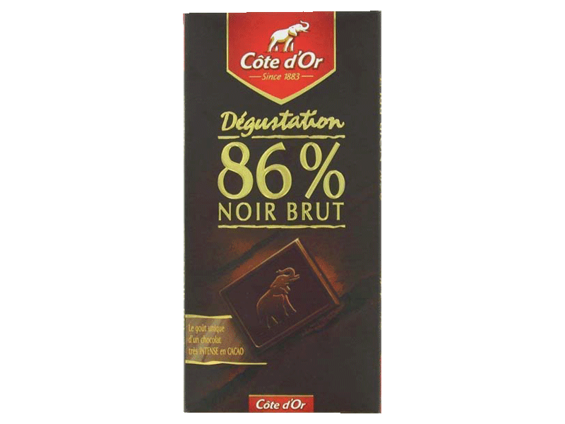 Chocolat brut Cote d'Or 86% cacao tablette 100g