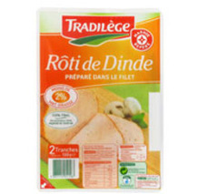 Roti de dinde Tradilege Filet cuit 2 tranches 100g