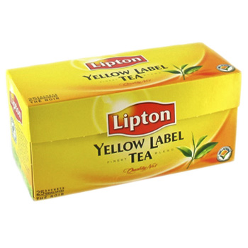 The Lipton yellow label tea x25 sachets de 50g