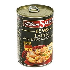 William Saurin lapin aux deux moutardes 400g