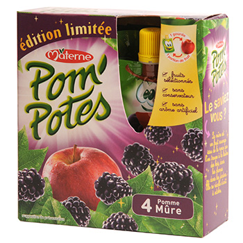 Pom'potes Materne Pomme mure Ed.limitee 4x90g