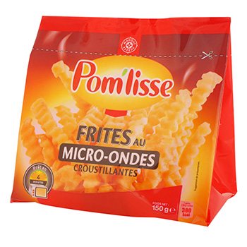 Frites micro-ondables Pom'lisse 150g