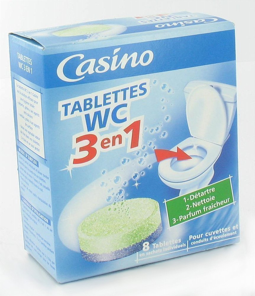 CASINO Tablettes WC - 3 en 1 x8