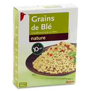 Grains de ble precuits naturellement riche en fibres
