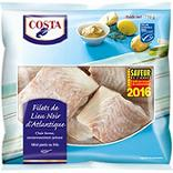 Filets de Lieu Noir d'Atlantique COSTA, 710g
