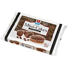 Mini cakes tout chocolat U, 12 pieces, 420g