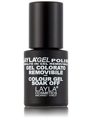 Layla Cosmetics Milano Vernis à Ongles Semi Permanent Soak Off Gel Polish Funky Pink 10 ml