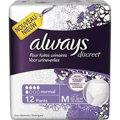 Always discreet incontinence sous vetement normal M x12
