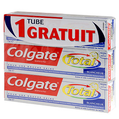 Dentifrice Total blancheur Lot promo