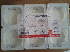 Fromage blanc au lait pasteurise CHATEAURENAUD, 40%MG, 6x100g