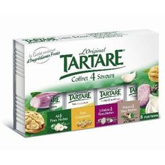Specialite fromagere pasteurisee Coffret 4 saveurs Tartare, 35%MG, 133g