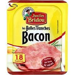 Bacon JUSTIN BRIDOU, 18 tranches fines, 180g