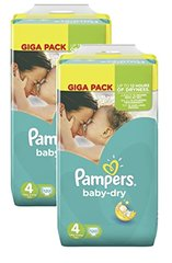 Pampers babydry gigapack couches bebe t4 maxi x120
