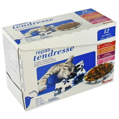 Auchan Repas Tendresse adultes multivarietes 12x100g