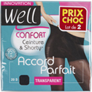 Well collant accord parfait transparent noir taille 4 x2