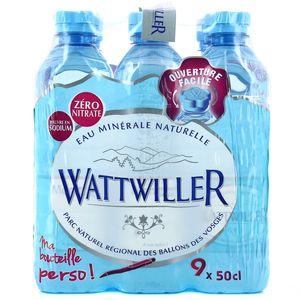 wattwiller eau min rale naturelle les 9 bouteilles de 50 cl tous les produits eaux plates. Black Bedroom Furniture Sets. Home Design Ideas
