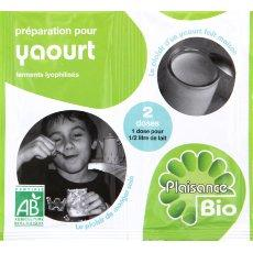 Preparation de ferments lyophilises pour yaourts PLAISANCE BIO, 2x6g