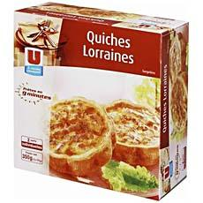 Quiches Lorraines U, 2 pieces, 350g