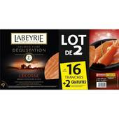 Labeyrie lot de 2x8 tranches sf ecosse s 570g ( 2x265 + 40g)