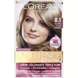 Coloration permanente EXCELLENCE, blond clair cendren? 8-1