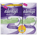 Always protege slips discreet normal x58