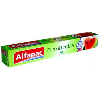 Film etirable alfapac extensible auto adherent 30m tous - Film etirable alimentaire cuisine ...